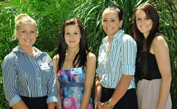 SHOWGIRL ENTRANTS: Seniors (from left) Renee Jackson, 20, a student from Evans Head; Sarah Torrsei, 19, a shop assistant from Ballina; Kim Rayner, 24, a sales assistant from Meerschaum Vale; Kayla Ford, 18, a student from Wollongbar. Photo by CC Photography Photo Contributed