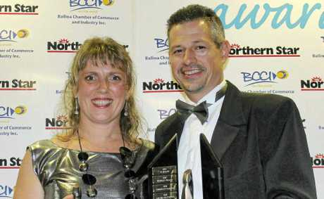 AWARD WINNERS: Anke and Michael Fellner, who own Deli 4U, won the Ballina Shire Business of the Year award last Saturday night.