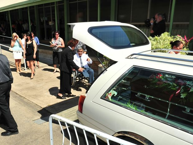 Greg Sutherland was one of the many people who paid their respects to local legend Cedric Andrew.