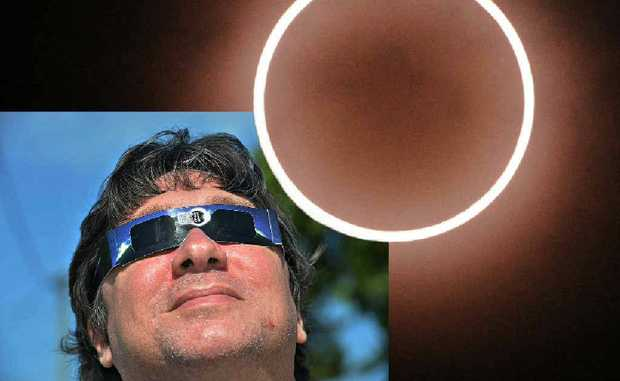Warren Maag prepares to journey north to view the total solar eclipse.