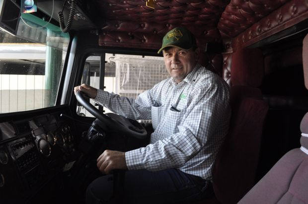 ROAD RUNNER: Fraser's Livestock Transport manager Tommy Hunt, in an industry already burdened by the Carbon Tax.