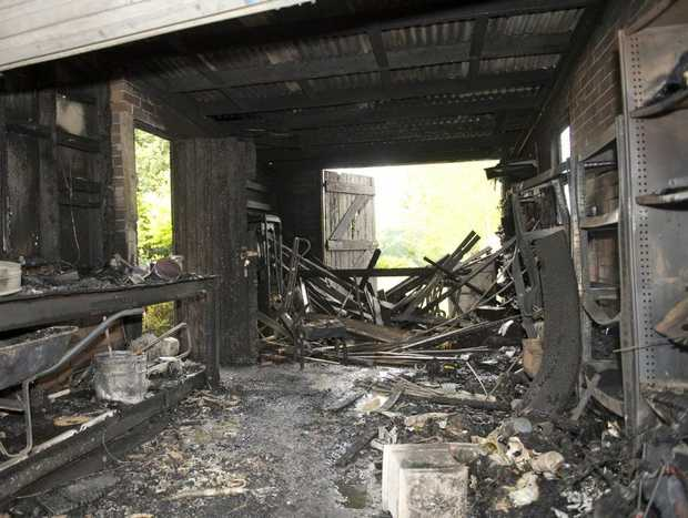 The terrible effects of a fuel can explosion at a Rangeville home today.