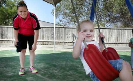 Bobbi-Lea Saul pictured with her daughter Mackenzie Southerland, 2 is expecting her second child just before the governements changes to the baby bonus. Photo: Inga Williams / The Satellite