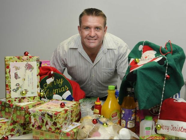 Shane Webcke launches the Adopt a Family Christmas appeal.