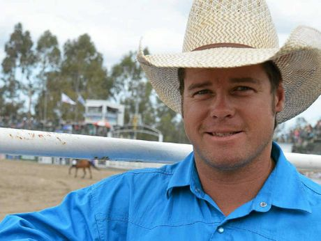CROWD FAVOURITE: Local saddle bronc rider Mark Collins was one of the stars of the Warwick Rodeo.