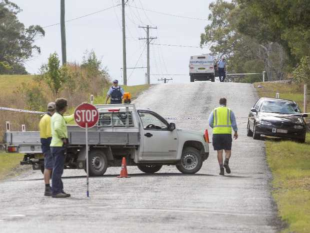The scene of a collision on Gardiners Road, Townsend where a young woman was hit and killed.