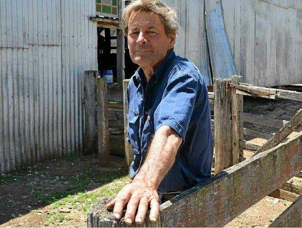 TEN POUND POM TURNED PRIME LAMB PRODUCER: Pratten landholder James Mead.