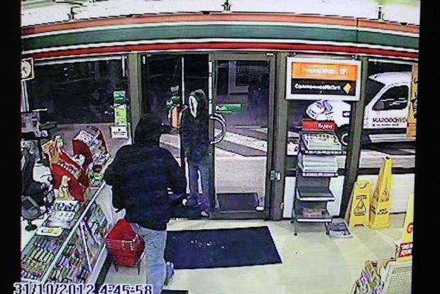 The 7-Eleven on Aerodrome Rd. at Maroochydore was held up on Wednesday morning at about 4.45am. Photo: CCTV