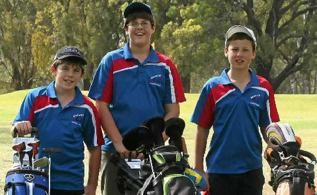 Angus Roberts, Tom Smith and Tim Duggan are ready to welcome new recruits to Warwick junior golf.