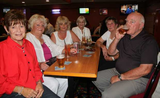 LOCAL GATHERING: (From left) Barbara Hines, Del Wells, Angie Ezzy, Wilma Barry and Pat and Ray Reeves are just some of the Stanthorpe RSL regualrs that will benifit from the planned revamp. Photo Ewan Leighton / Stanthorpe Border Post