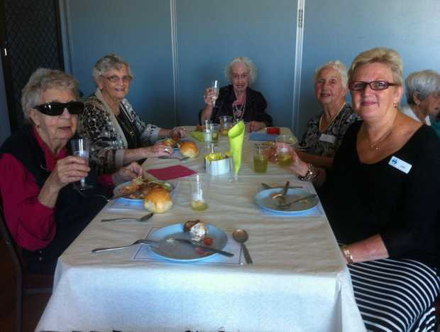 Clients Mary Shaw, Elspeth Vernon, Valerie Steele, Pat Winkel and committee member Judie Vernon. Photo: Contributed