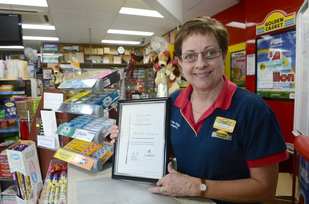 Norelle Weight from the Montville Village News has won a Carer Friendly Business Award, Warren Lynam / Sunshine Coast Daily