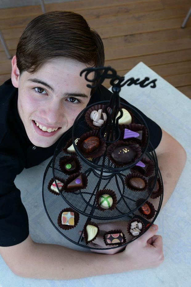 Sebastien Clerc, 17, has started his own chocolate business, Cocorico.
