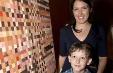 The Range arts festival co-ordinator Ashleigh Bunter with Jack Bunter at the official launch.
