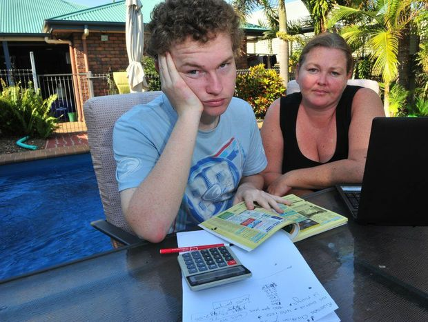 SCHOOL DRAMA: Nicholas Sirett and his mum Maryanne Sirett search for a new school in Bundaberg after learning that Nicholas' enrolment at St Luke*s Anglican School will be terminated at the end of the year. Photo: Max Fleet / NewsMail