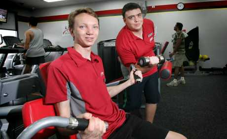 Tyler Haigh, 21 and Daniel Wright, 19 have both gained employment at Snap Fitness through job placement. Photo: Inga Williams / The