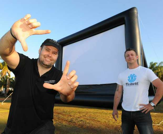 SHOW ENDS: Outdoor Big Screen's Steven Greenwood and Innes Park Country Club owner Clint Jensen are disappointed the drive-in will be cancelled unless another venue can be found.