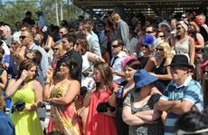 Melbourne Cup celebrations at Corbould Park. Crowds enjoy the day.