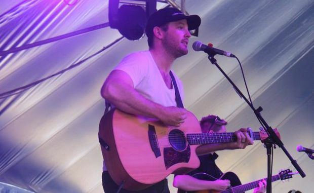 Dysart local Brad Butcher took the day off work to play at the festival. Photo Kathleen Calderwood / The Rural Weekly