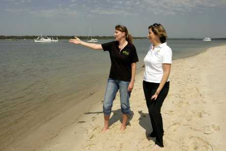 Liz Young and Joy Bristol look over the perfect location to bring tourists.