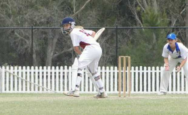 Carly Leeson playing cricket for NSW Country against City Metro last month.