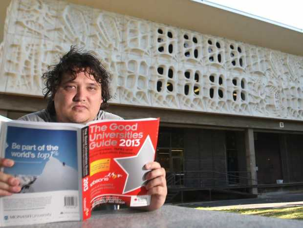 Brendan Kirkman, President of the Central Queensland University Students Association. Photo Allan Reinikka / The Morning Bulletin