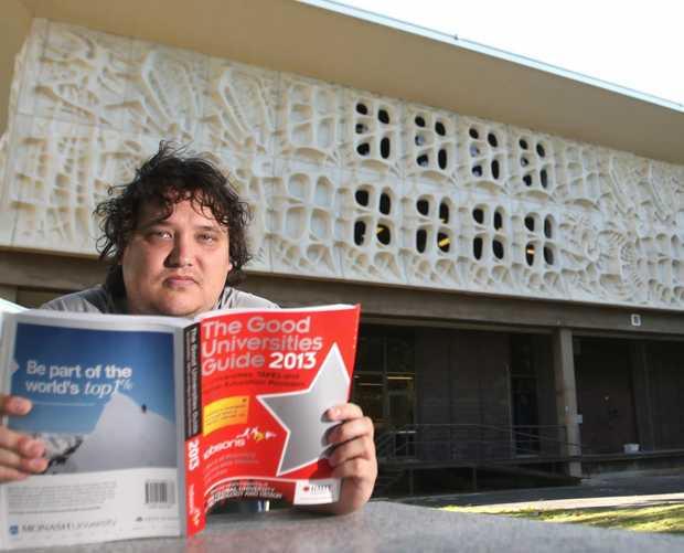 Brendan Kirkman, President of the Central Queensland University Students Association. Photo Allan Reinikka / The Morning Bulletin