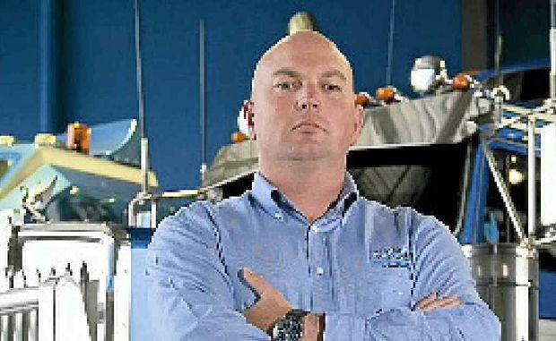 BOSS: Mega Truckers Australia's Jon Kelly, of Heavy Haulage Australia, Sumner Park, Brisbane. Photo: Contributed