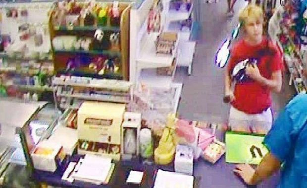 WANTED: The attempted armed robbery was caught on CCTV at the Leichhardt Caltex.