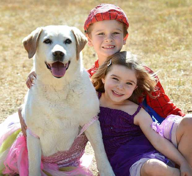FAB LAB: Sophie and Chad Roper with their labrador dog Skye.