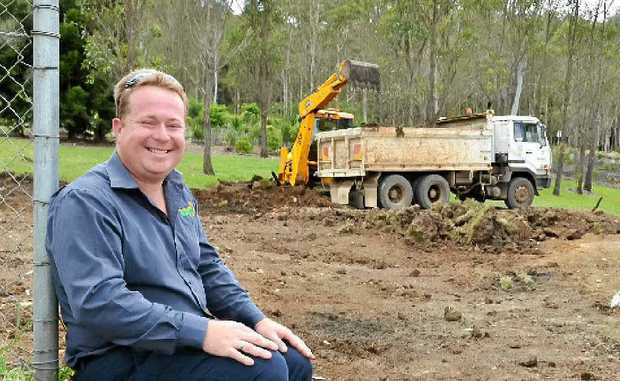 GETTING WASTED: Lismore Council's waste operations co-ordinator Kevin Trustum at the site of the new Environment Education Centre.