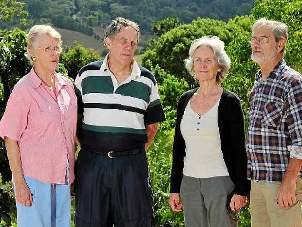 WORRIED: (L-R) Adrienne and Paul Prentice, Jacques and Jill Retif.