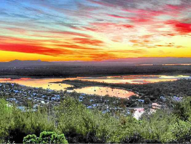 WORTH FIGHTING FOR: Sunset from Noosa Lookout.