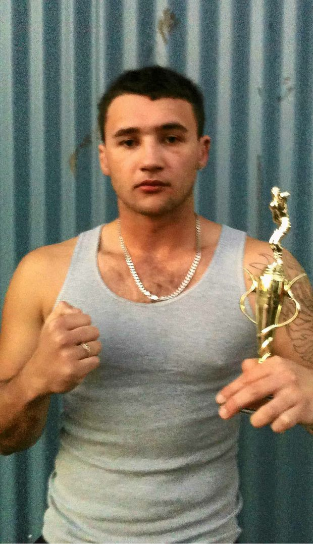 WINNING EFFORT: Joe Evans won his bout at Caloundra recently.