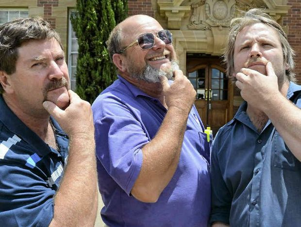 THE SHAVERS: Wayne Hogan, Greg Marsh and Dane King are preparing to lose their long-term moustaches.