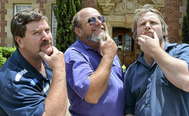 Wayne Hogan, Greg Marsh and Dane King are preparing to lose their long-term moustaches.