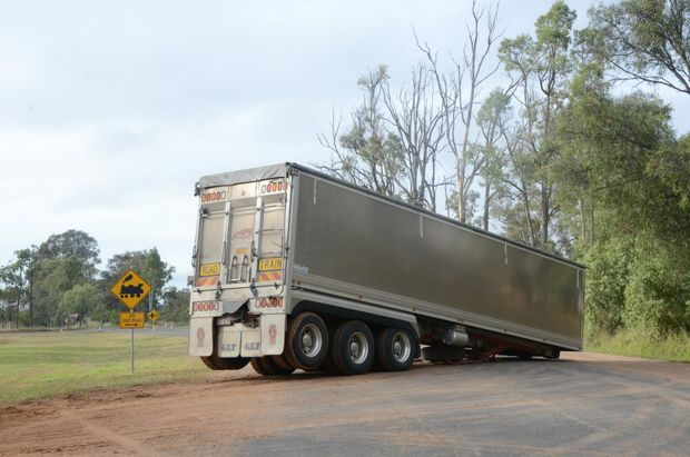"Accidents involving ""dog-trailers"" have been happening with alarming frequency on the Warrego Highway."
