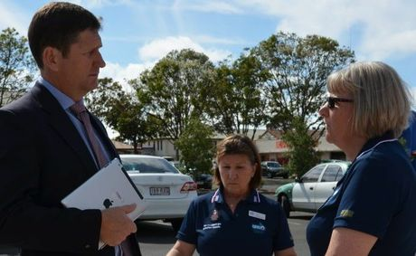 QUESTION TIME: QNU's Auriel Robinson and Jenni Ballantyne chat to Lawrence Springborg before the cabinet meeting on Tuesday.