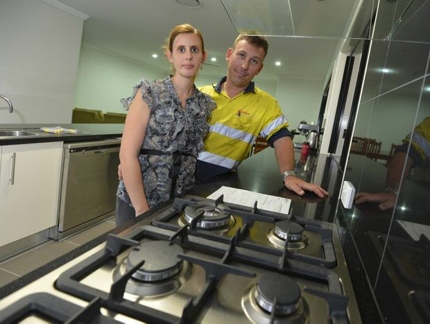COOKING WITH GAS: Sherri and Ben Sanders are relieved to have their gas system compliance certificate after over a month of frustration with their Gladstone building company.