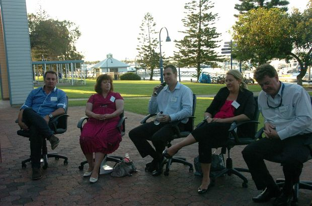 The panel at the GAPDL Search for Solutions findings forum at the marina.