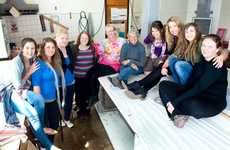 Final year visual art students (from left) Milly Atzeni, Taryn Kaluza, Erin Hermann, Kathy Appleby, Lynette Larson, Carolyn Harrison, Amber Kilkenny, Winny Barber, Rachel Fitzpatrick and Corrina McLaughlin are showing their work in the 2012 Graduart exhibition.