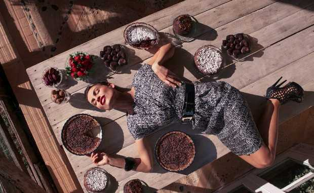 Still from the new chocolate cookbook by model Abigail O'Neill.