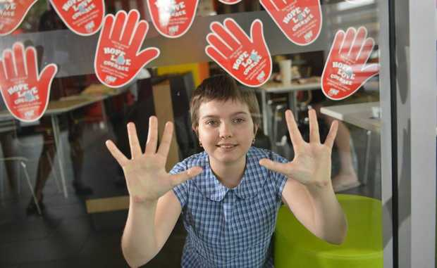 Eleven-year-old Zoe Cirson understands the importance of McHappy Day better than most people after was diagnosed with Ewing*s sarcoma, a cancerous tumour of the finger last year. Photo Christopher Chan / The Observer