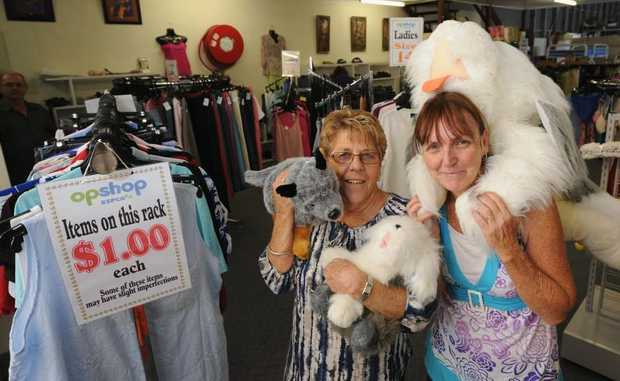 RSPCA opportunity shop members Sally Dillon and Linda Quinnell are excited about the opening.