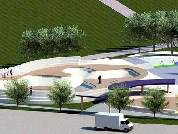 An artist's impression of the Coffs Harbour Regional Skate Park located in Brelsford Park.