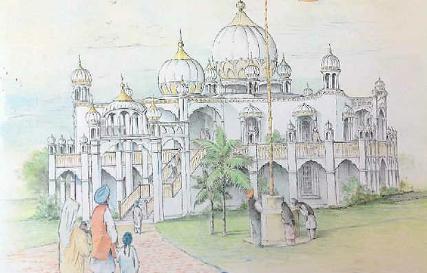 An artist's impression of what the new Sikh Temple in Hastings St will look like.
