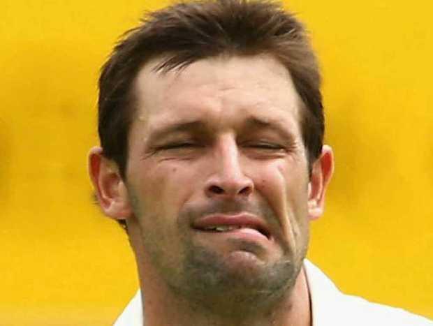 STRUGGLING: Aussie bowler Ben Hilfenhaus.