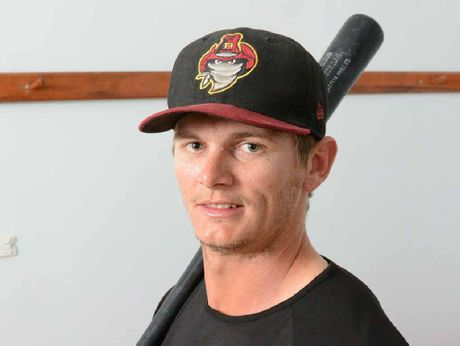 SLUGGER: Josh Roberts aims to impress in the Australian Baseball League this summer.
