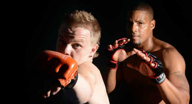 BIG HITTERS: Ipswich-based MMA fighters Zac Bennett and Michael McDaniel will be fighting in an upcoming cage fighting event on the bay side.