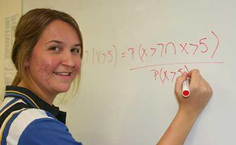 TOP OF CLASS: Kristie Madsen was named Biloela High Schools year 12 dux last week.